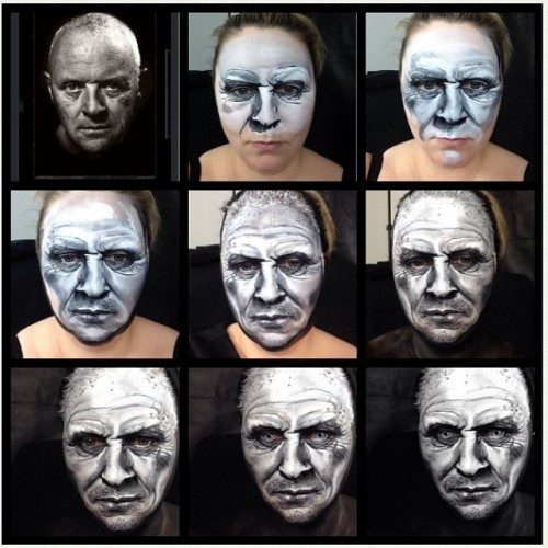 #tbt #anthonyhopkins attempt :D x #makeup #facepainting