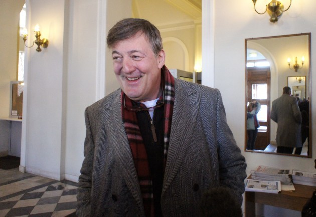 Stephen Fry visits St. Petersburg