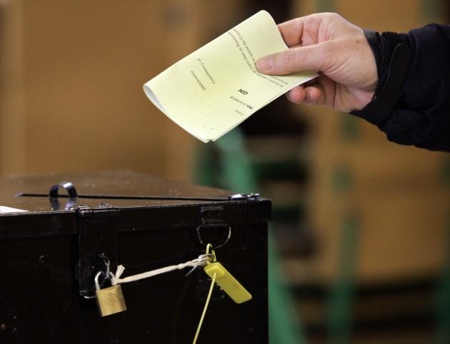 File photo: voting in island communities gets underway Seanad Referendums Campaigns
