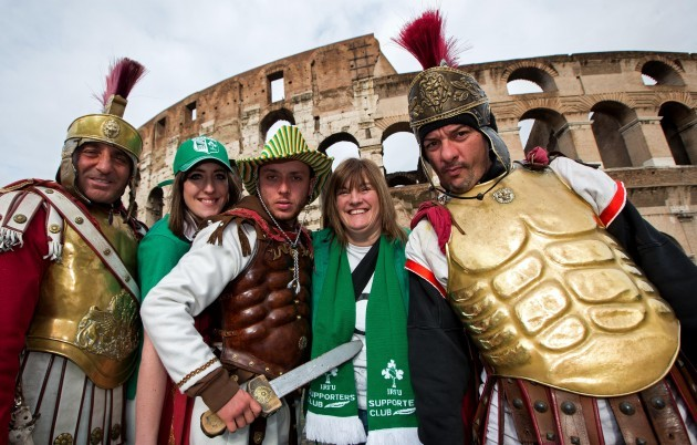 Ginnie and Liz Power from Maynooth, Co. Kildare with Roman Gladiators