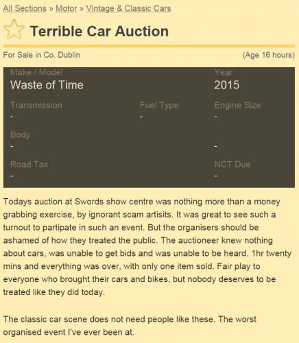 terrible car auction