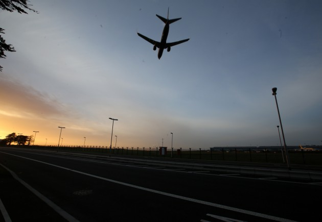 Dublin Airport. Pictured a plane commi
