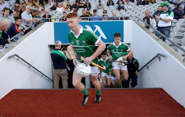 Cian Lynch leads his team out