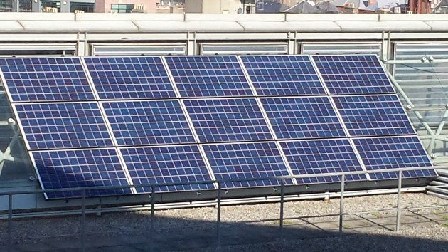 solar panel on roof of civics (1)