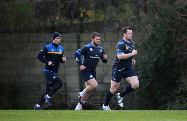 Daniel Tobin with Sean O'Brien and Cian Healy