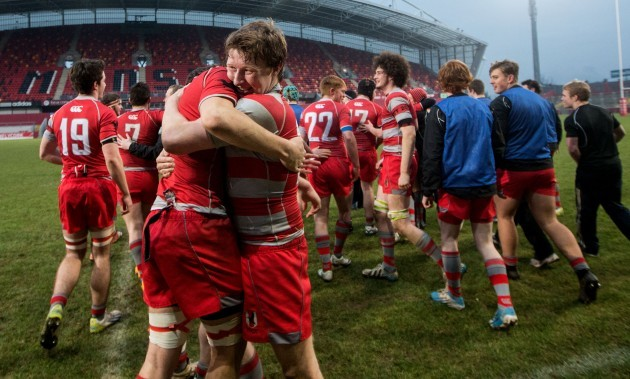 Alex Donohoe and Tim Constigan celebrate after the game