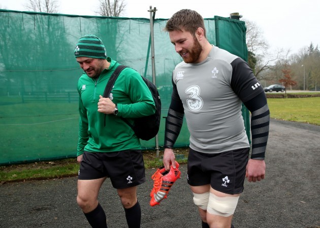 Rory Best and Sean O'Brien