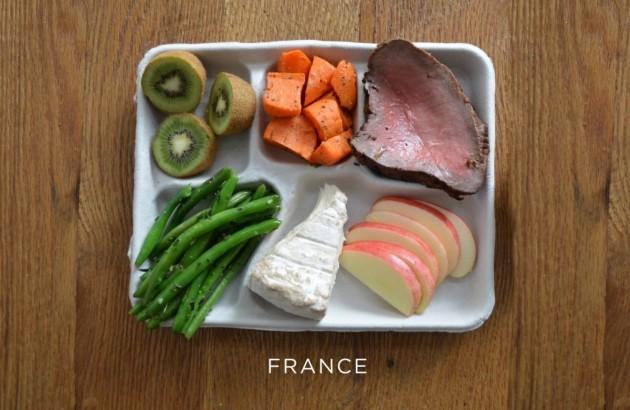 france-steak-carrots-green-beans-cheese-fresh-fruit