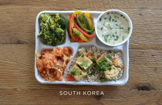 south-korea-fish-soup-tofu-over-rice-kimchi-fresh-veggies