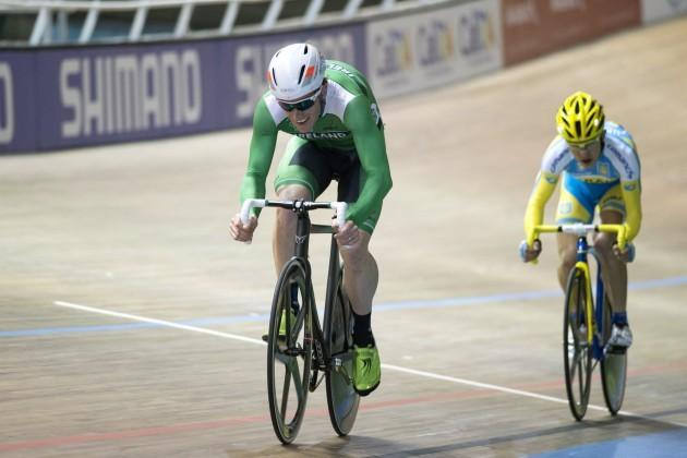 Martyn Irvine celebrates finishing second 27/2/2014