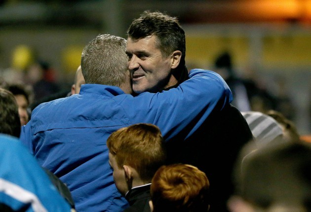 Roy Keane with Bob Donovan