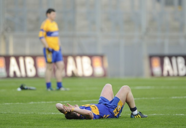 Francis Cassidy dejected at the end of the game