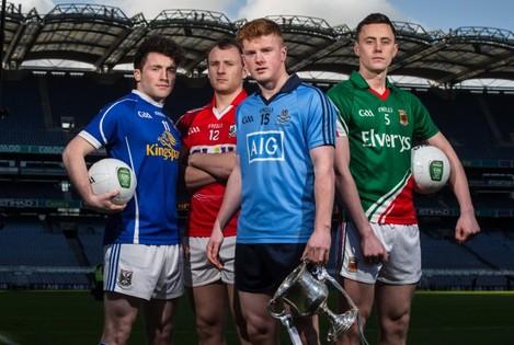 Conor McHugh, Enda Flanagan, Brian O'Driscoll and Diarmuid O'Connor