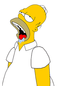 homer simpson drooling by dondrug-d6h081a