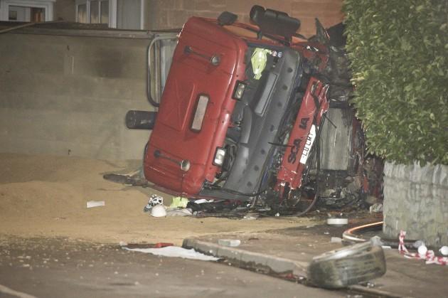 Tipper truck accident in Bath