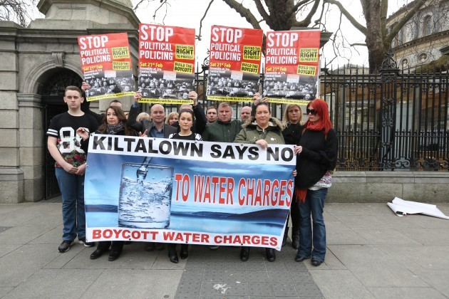Water Protest - Press Conference. Pict