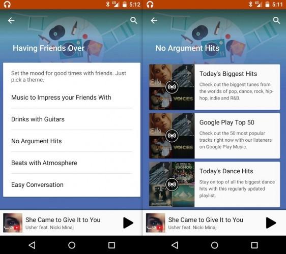 Songza Google Play Music