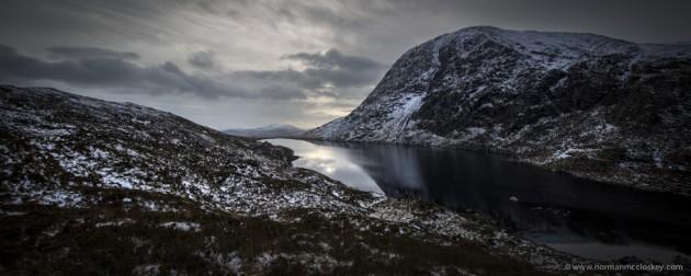 Lough Fada, and Kn ocklomena , Dunkerron Mountains