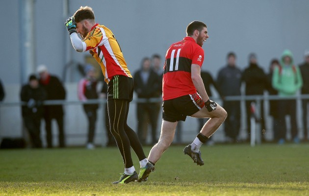 Luke Connolly celebrates scoring a goal