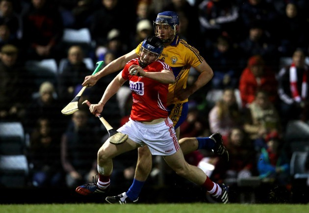 Conor Lehane is tackled by Conor Ryan