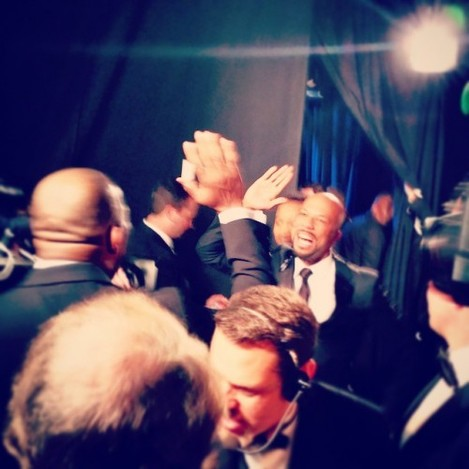 The moment after they won #oscars