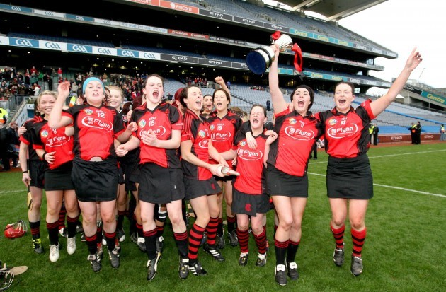 The Oulart-the-Ballagh team celebrate with the trophy