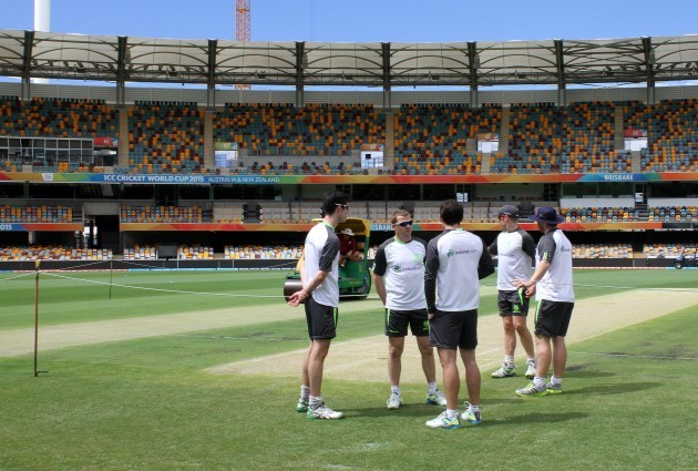 The Irish players in the Gabba today