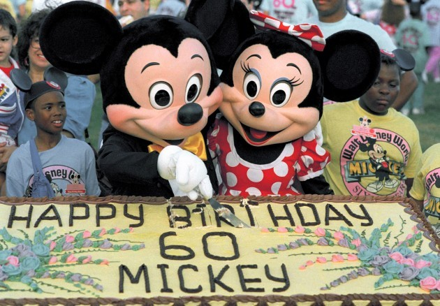 Mickey Mouse and Minnie