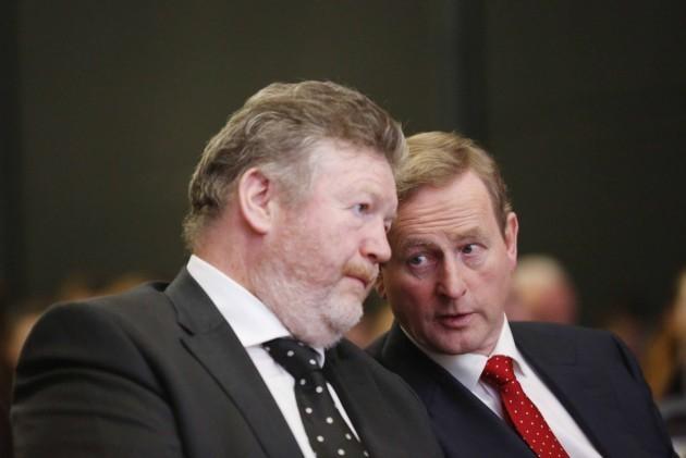 Taoiseach Enda Kenny(right) and Ministe