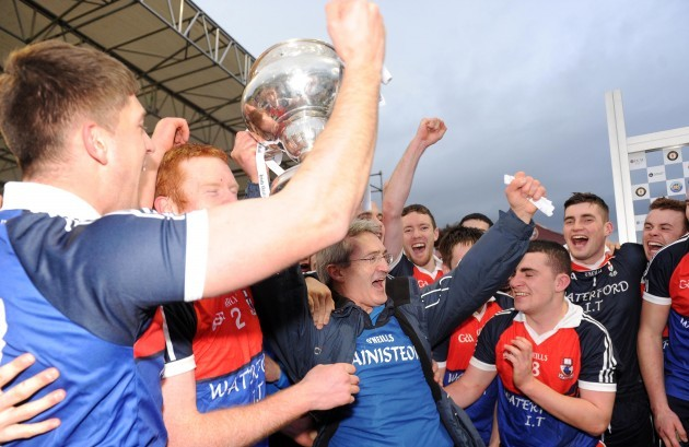 Colm Bonner celebrates with the cup