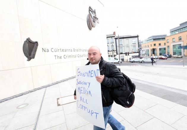 File Photo Derek Byrne is on Hunger Strike.