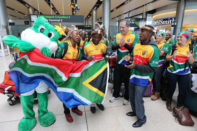 South Africa Gaels team arrive at Dublin Airport