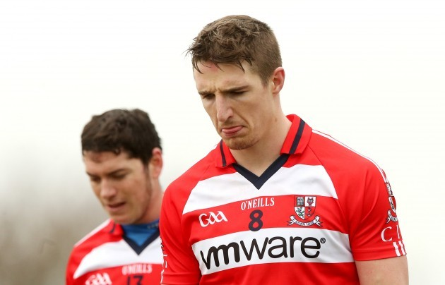 John OÕDwyer and Aidan Walsh dejected after the game