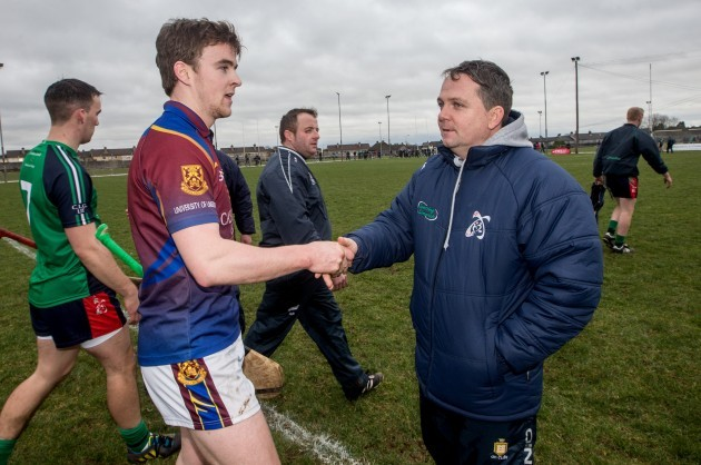 Tony Kelly and Davy Fitzgerald after the game