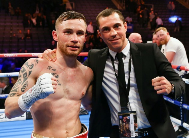 Carl Frampton with Scott Quigg after the fight