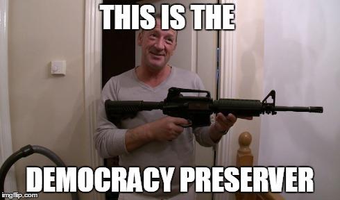 tony mcgregor democracy preserver meme