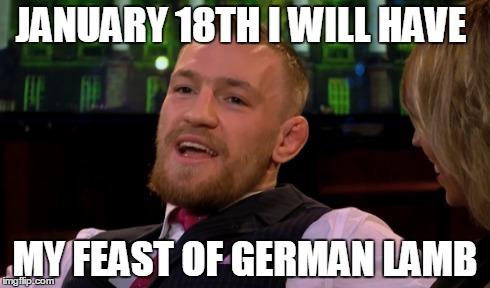Mcgregor German Lamb meme