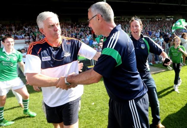 John Allen shakes hands with Ger Cunningham