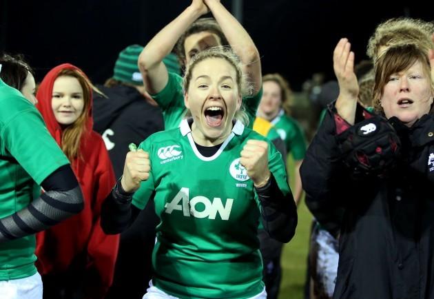 Niamh Briggs celebrates