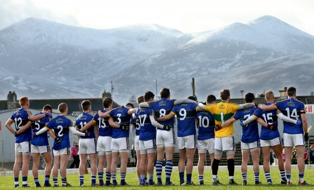 The Kerry team before the game