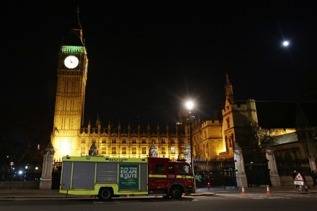 Westminster roof incident