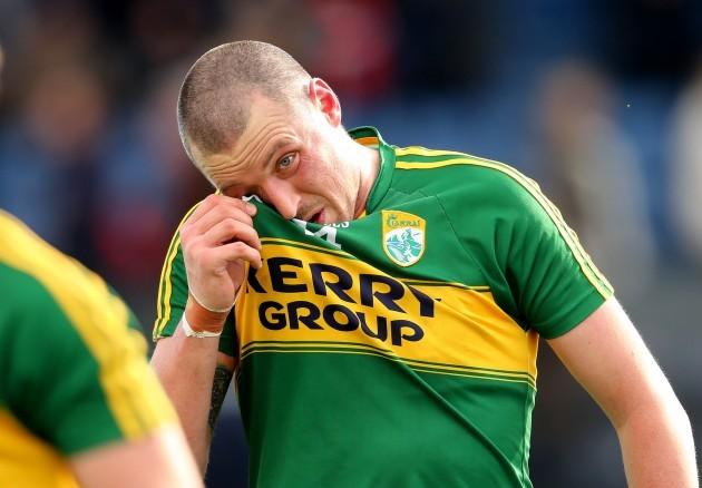 A dejected Kieran Donaghy