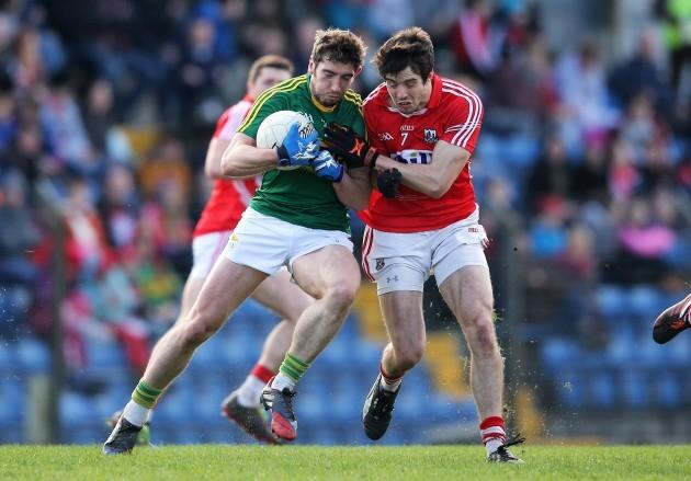 Jamie O'Sullivan shoulders Killian Young