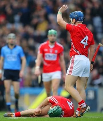 Conor O'Sullivan signals for assistance