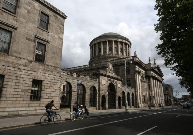 Dublin Scenes. Pictured the Four Courts