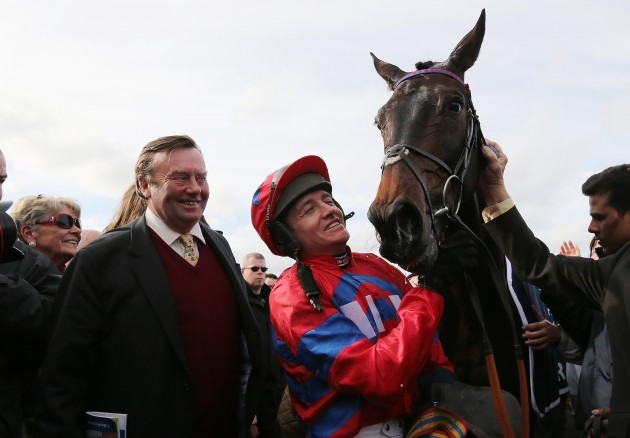 Winning jockey Barry Geraghty with Sprinter Sacre