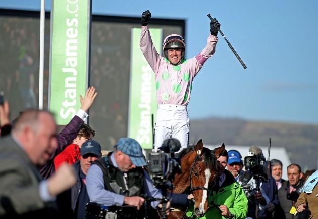 Ruby Walsh on Faugheen celebrates winning