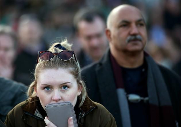 A fan in Cheltenham today