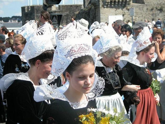 Closeup of headdresses