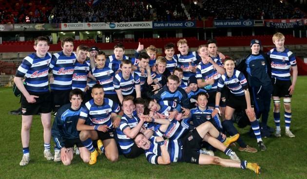 The Crescent College team celebrate